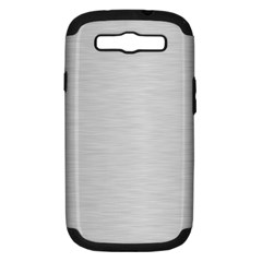 Metallic Grey Samsung Galaxy S Iii Hardshell Case (pc+silicone)