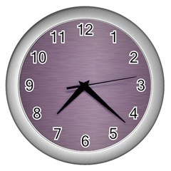 Metallic Pink Wall Clock (silver)