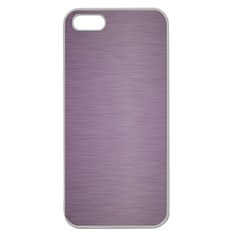 Metallic Pink Apple Seamless Iphone 5 Case (clear)