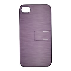 Metallic Pink Apple Iphone 4/4s Hardshell Case With Stand