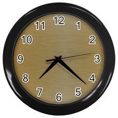 Metallic Yellow Wall Clock (black) by TimelessDesigns