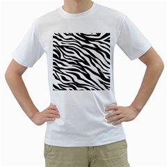 Zebra Prin Men s T Shirt (white)