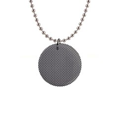 Polka Dot Black  1  Button Necklace by TimelessFashion