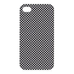 Polka Dot Black  Apple Iphone 4/4s Premium Hardshell Case