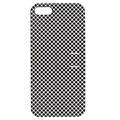 Polka Dot Black  Apple Iphone 5 Hardshell Case With Stand