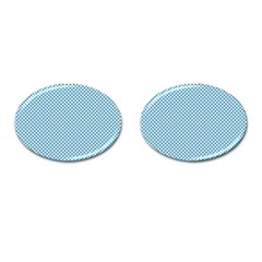 Polka Dot Blue  Cufflinks (oval)