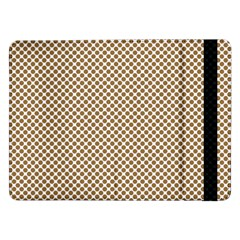 Polka Dot Brown Samsung Galaxy Tab Pro 12 2  Flip Case by TimelessDesigns