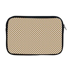 Polka Dot Brown Apple Macbook Pro 17  Zipper Case