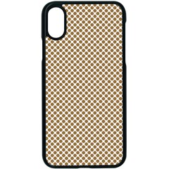 Polka Dot Brown Apple Iphone X Seamless Case (black)