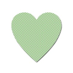 Polka Dot Green Heart Magnet by TimelessDesigns