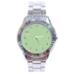 Polka Dot Green Stainless Steel Analogue Watch by FEMCreations