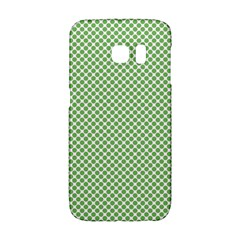 Polka Dot Green Samsung Galaxy S6 Edge Hardshell Case