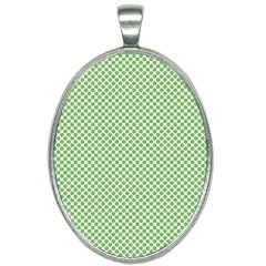 Polka Dot Green Oval Necklace by TimelessFashion