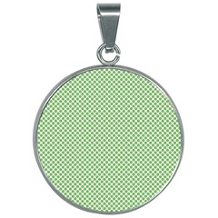 Polka Dot Green 30mm Round Necklace by TimelessFashion