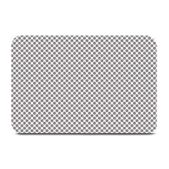 Polka Dot Grey Plate Mats by TimelessDesigns
