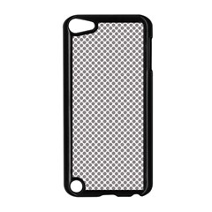 Polka Dot Grey Apple Ipod Touch 5 Case (black) by FEMCreations