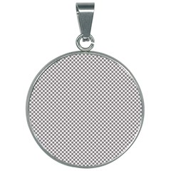 Polka Dot Grey 30mm Round Necklace