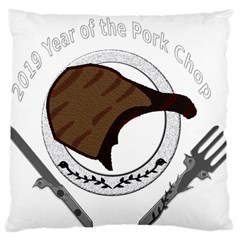 2019 Year Of The Pork Chop Large Cushion Case (one Side) by ComfortMelody
