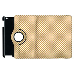 Polka Dot Orange Apple Ipad 3/4 Flip 360 Case