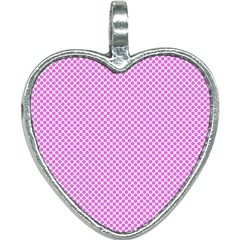 Polka Dot Pink  Heart Necklace by TimelessFashion