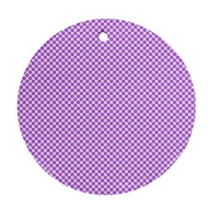Polka Dot Purple Ornament (round) by TimelessDesigns