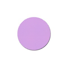 Polka Dot Purple Golf Ball Marker