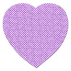 Polka Dot Purple Jigsaw Puzzle (heart) by TimelessDesigns
