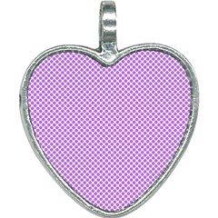 Polka Dot Purple Heart Necklace by TimelessFashion