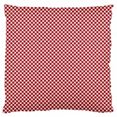 Polka Dot Red  Standard Flano Cushion Case (one Side)