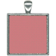Polka Dot Red  Square Necklace by TimelessFashion