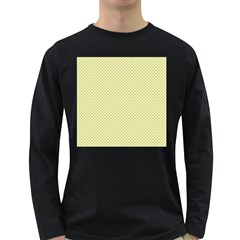 Polka Dot Yellow  Long Sleeve Dark T Shirt