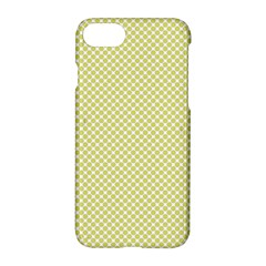 Polka Dot Yellow  Apple Iphone 7 Hardshell Case