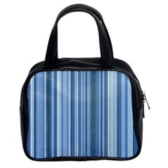 Stripes In Blue Classic Handbag (two Sides)