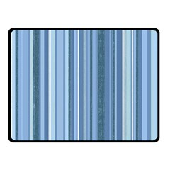 Stripes In Blue Fleece Blanket (small)