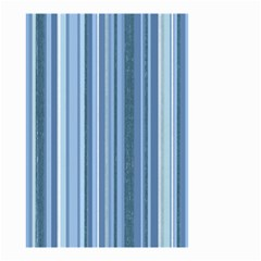 Stripes In Blue Small Garden Flag (two Sides)
