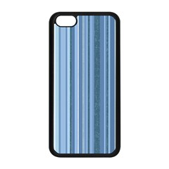 Stripes In Blue Apple Iphone 5c Seamless Case (black)