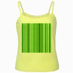 Stripes In Green Yellow Spaghetti Tank by TimelessDesigns