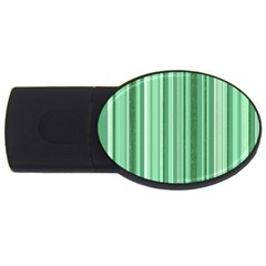Stripes In Green Usb Flash Drive Oval (4 Gb) by TimelessDesigns