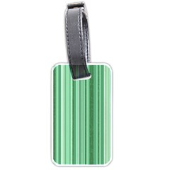 Stripes In Green Luggage Tags (two Sides) by TimelessDesigns