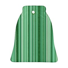 Stripes In Green Bell Ornament (two Sides)