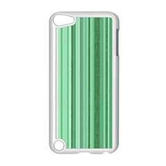 Stripes In Green Apple Ipod Touch 5 Case (white)