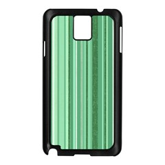 Stripes In Green Samsung Galaxy Note 3 N9005 Case (black) by TimelessDesigns