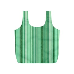 Stripes In Green Full Print Recycle Bag (s)