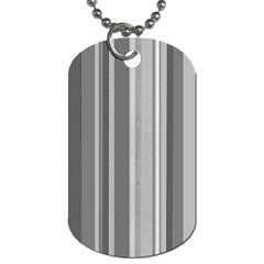 Stripes In Grey Dog Tag (two Sides)