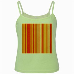Stripes In Orange Green Spaghetti Tank
