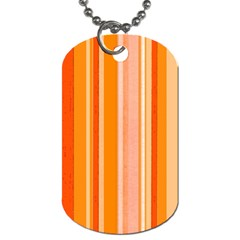 Stripes In Orange Dog Tag (two Sides)