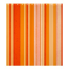 Stripes In Orange Shower Curtain 66  X 72  (large)