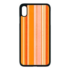 Stripes In Orange Apple Iphone Xs Max Seamless Case (black) by TimelessDesigns