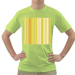 Stripes In Yellow Green T Shirt by TimelessFashion