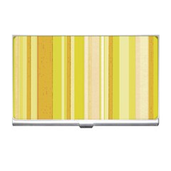 Stripes In Yellow Business Card Holder by TimelessDesigns